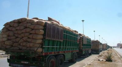 الاحتلال الأمريكي يخرج 45 شاحنة محملة بالقمح المسروق من الحسكة إلى العراق