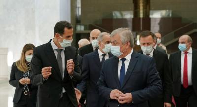 الرئيس بشار الأسد يستقبل وفدا روسيا برئاسة المبعوث الخاص للرئيس بوتين