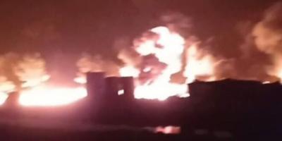 اندلاع حرائق ضخمة بحرّاقات نفطية شرقي حلب