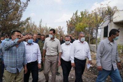 الرئيس الأسد يحدد احتياجات الأهالي في المناطق المتضررة من الحرائق