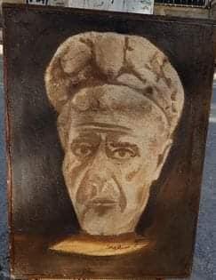 إبراهيم سلامة يرسم بالقهوة والطين