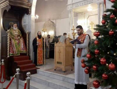 قداس إلهي في كاتدرائية مار جرجس البطريركية للسريان الأرثوذكس بدمشق