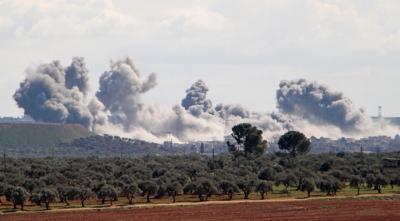 طائرات مجهولة تستهدف اجتماعاً لقياديي المجموعات المسلحة في ريف إدلب