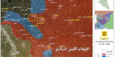 بالخريطة…كيف أصبحت سيطرة الجيش السوري في درعا؟