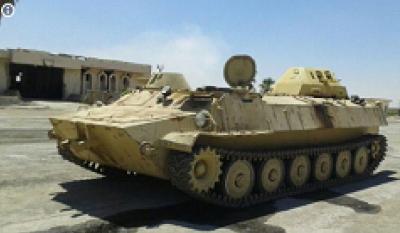 بالصورة: القوات السورية تغنم عربة عجيبة