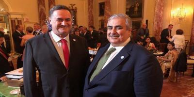 """تجاوز التطبيع إلى العلاقات الرسمية...لقاء علني بين وزيري خارجية البحرين و""""إسرائيل""""في واشنطن"""