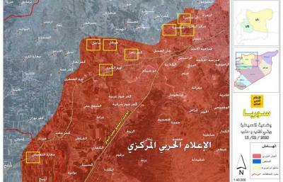 الجيش يحرر مساحة ١٣٣٠ كلم٢ في ريفي حلب وادلب