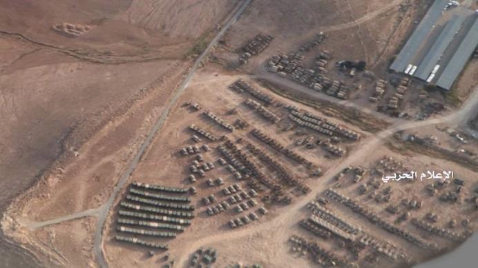 رصد الحشود العسكرية الغير مسبوقة داخل الأراضي الأردنية بالقرب من الحدود السورية